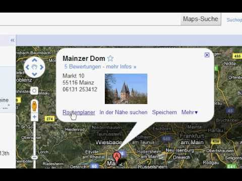 google maps routenplanung spaziergang mainz tip hilfe am rhein youtube. Black Bedroom Furniture Sets. Home Design Ideas