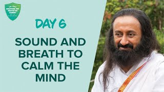 Sound & Breath To Calm The Mind | Day 6 of 10 Days Breath And Meditation Journey With Gurudev