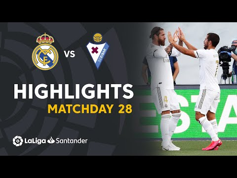 Real Madrid Vs Eibar 3 1 Highlights Goals 14 06 2020