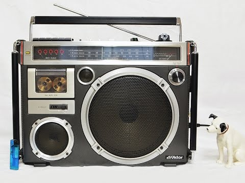 victor rc 550 1979 jvc vintage boombox ghettoblaster made in japan youtube. Black Bedroom Furniture Sets. Home Design Ideas