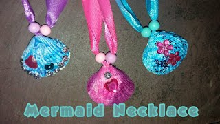 DIY Mermaid Sea Shell Necklace - sea shell art - kids necklace - craft ideas for kids