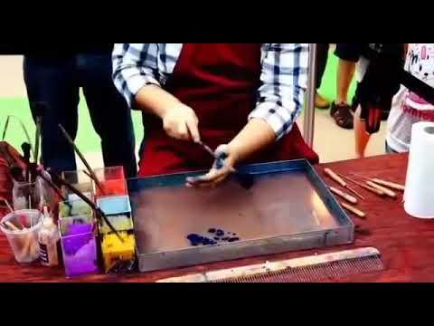 Cara Melukis Pada Air Untuk Kertas Marbling Dan Ebru Art