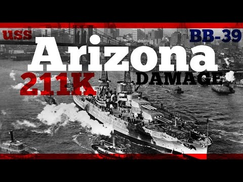 USS Arizona  211K DMG -😮- World of Warships