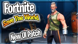Fortnite: Save The World - Reviewing The New UI Patch 😱 STW