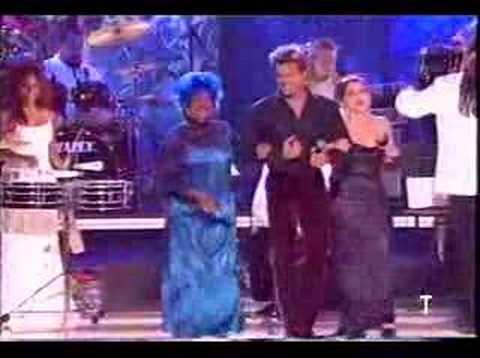 Ricky Martin, Celia Cruz and Gloria Estefan