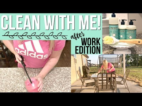 clean-with-me-|-after-work-cleaning-routine-2018