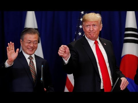 Trump and South Korea's Moon sound positive notes on North Korea progress
