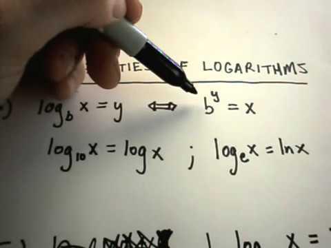 Properties of Logarithms - Part 1