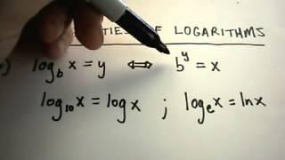 Properties of Logarithms  Part 1