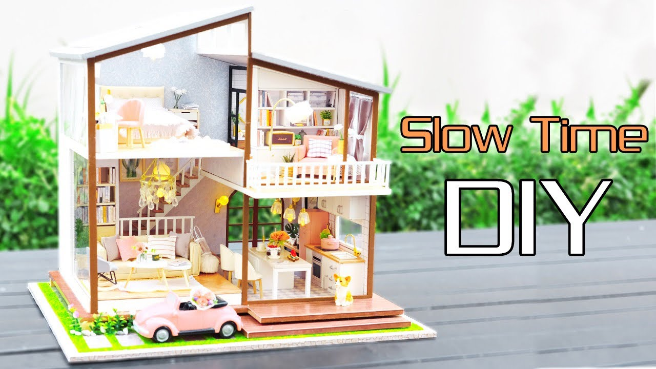 Diy Miniature Dollhouse Kit Slow Time With Full