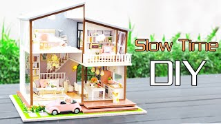 DIY Miniature Dollhouse Kit || Slow Time ( With Full Furniture & Lights )