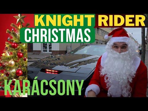 Knight Rider Karácsony a 2 méteres Télapóval_ Knight Rider Christmas with a 6 feet Santa thumbnail