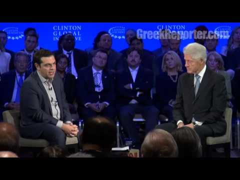 Alexis Tsipras and Bill Clinton on Greece at CGI 2015: Full HD Video