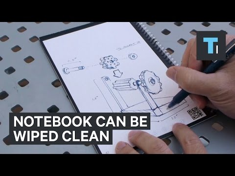 This notebook can be wiped clean and digitally scanned