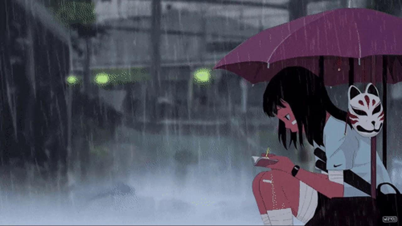 Anime Girl Rain Wallpaper Loop [ Very relaxing ] - YouTube