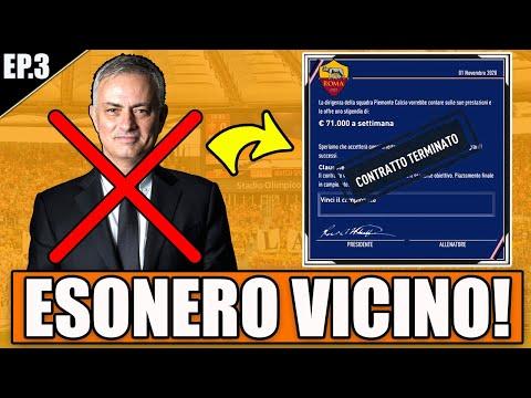 ESONERO VICINO!! LA ROMA VIENE UMILIATA CON UNA GOLEADA!! FIFA 21 CARRIERA ALLENATORE ROMA #3
