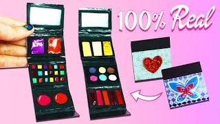 100% Real Miniature Makeup Kit For Dolls - Bronzer, Lipstick, Blush, Eyeshadow, Mirror etc.