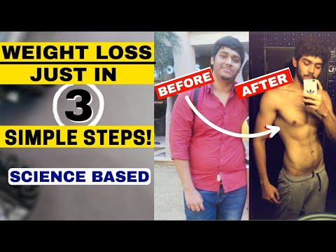 Easiest Way to Lose Weight fast | 3 Steps Based on SCIENCE | DIET + WORKOUT | fit bite