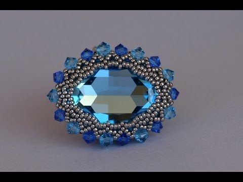 how to make a beaded bezel setting