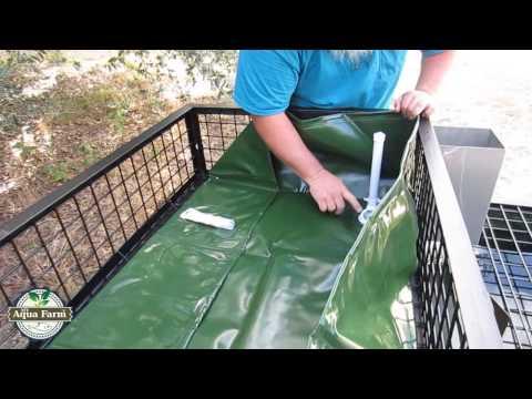 MyAquaFarm Aquaponics Construction Video