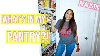 WHAT'S IN MY PANTRY?! / HONEST AND REALISTIC PANTRY TOUR / MOM OF 3 WEIGHT LOSS JOURNEY