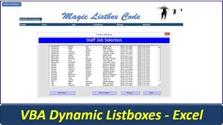 Listbox VBA Code - Awesome Userform Listbox