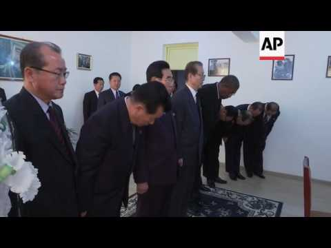 Senior North Korean figures visit Cuban embassy