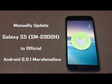 How to Manually Update Galaxy S5 (SM G900H) to Official Android 6 0 1  Marshmallow