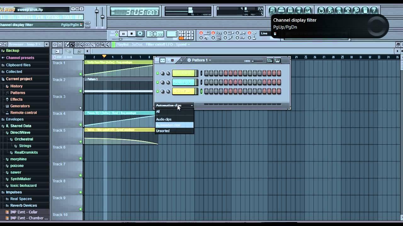 Как сделать эффекты в fl studio