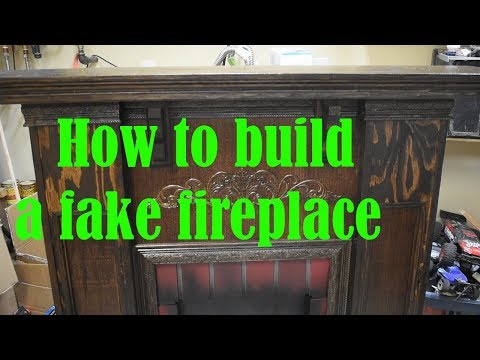 Fake fireplace how to:DIY Mantel and fireplace: Moveable fireplace.