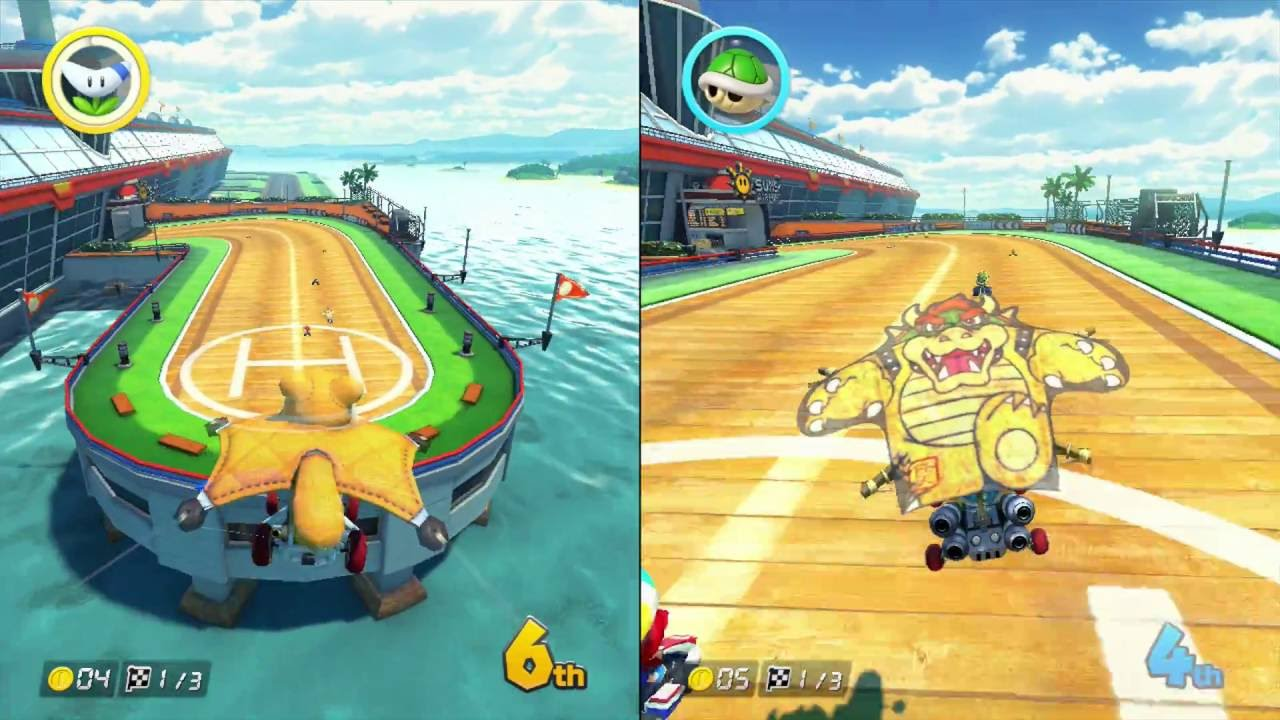kart over split Mario Kart 8   Grand Prix Star Cup   2 Player Split Screen   YouTube kart over split