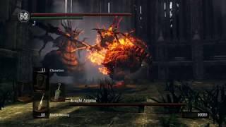 Dark Souls 1 Stray Demon vs FireSage Demon - Colosseum Arena Mode