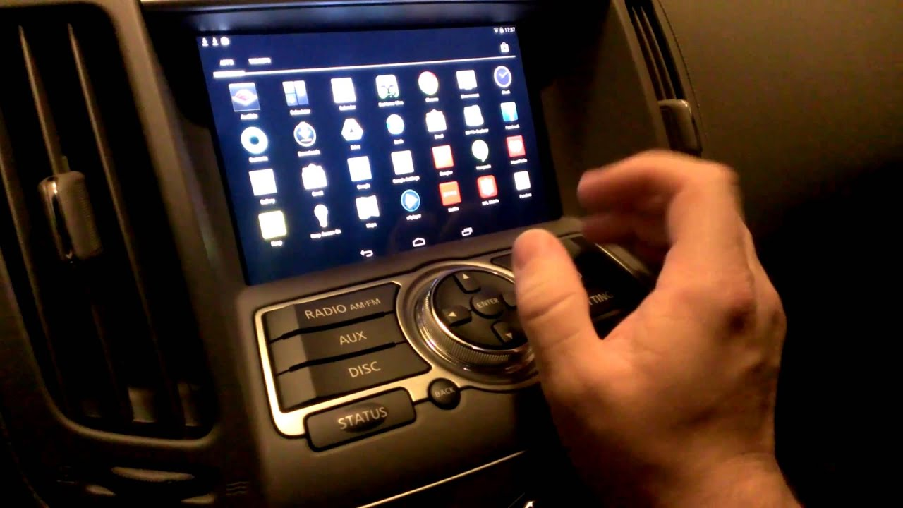 Nexus 7 car install 2010 Infiniti G37 - YouTube