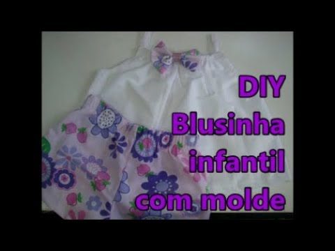 Blusinha infantil fácil com molde de 2 a 8 anos
