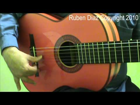 Proper Position & Angle Of The Thumb 1 / Flamenco Guitar Lessons (Beginners)