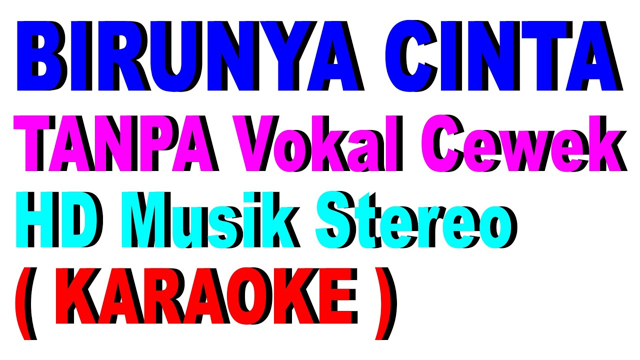 Dinding Kaca Suherman S No Vocal Cewek Cover Karaoke Duet Youtube
