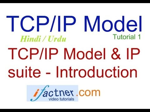 TCP/IP in Hindi Urdu introduction, TCP IP model protocol suite tutorial lecture 1