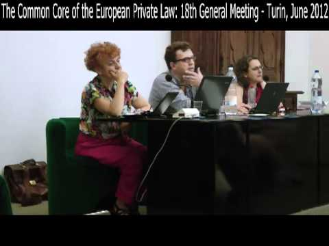 The Common Core of the European Private Law: 18th General Me