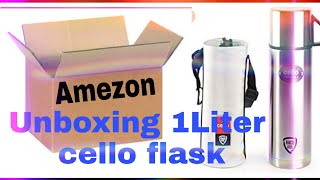 Cello cup style stainless stil flask 1 liter  Unboxing Amazon.in