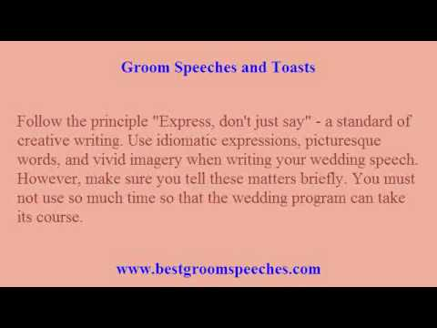 help writing grooms speech