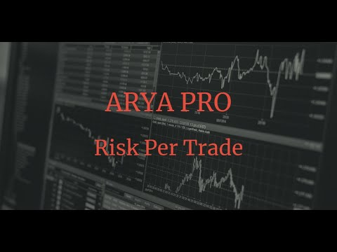 Avis ARYA PRO trading: fonction Risk Per Trade 1