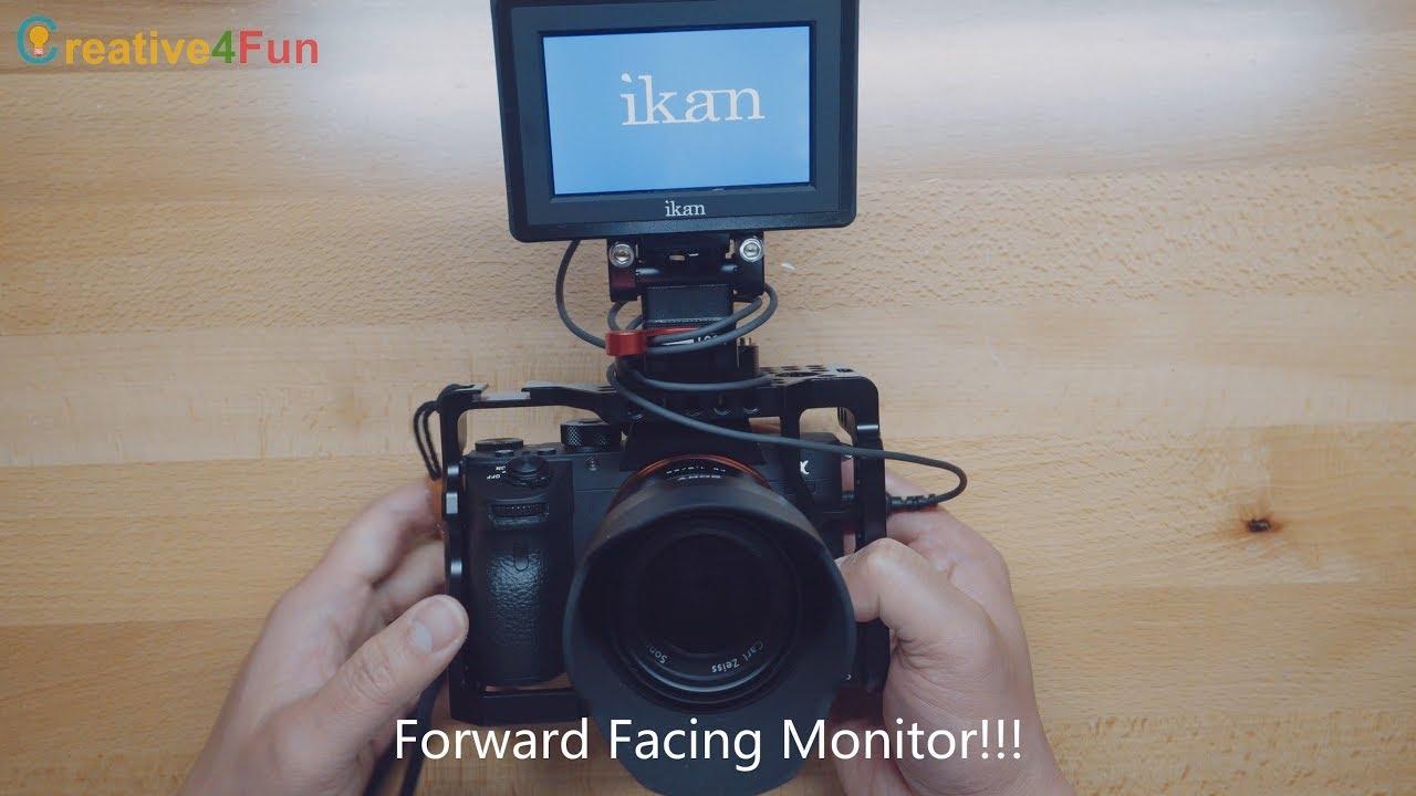 Forward Facing Monitor for SONY A7RIII / A7III