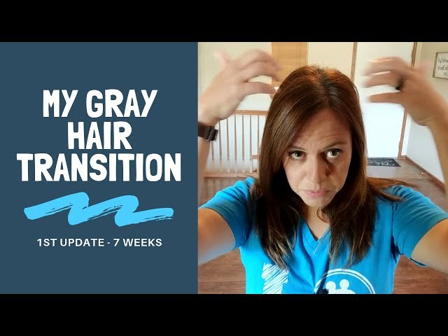 I've Decided to Go Gray!! 😄 My Gray Hair Transition Journey (1st Video)