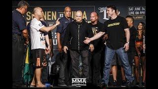 Bellator NYC Weigh-ins: Chael Sonnen vs. Wanderlei Silva Staredown - MMA Fighting