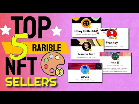 RARIBLE TOP 5 NFT ART SELLERS WITHIN 30 DAYS! 500 ETH 👾