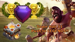 PUSH TO LEGENDS!!! Clash of Clans TH11 Trophy Push Livestream