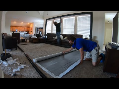 How to Assemble Screen Innovations 160 inch ZERO EDGE PRO Slate 1.2 w/ LED Lighting Kit