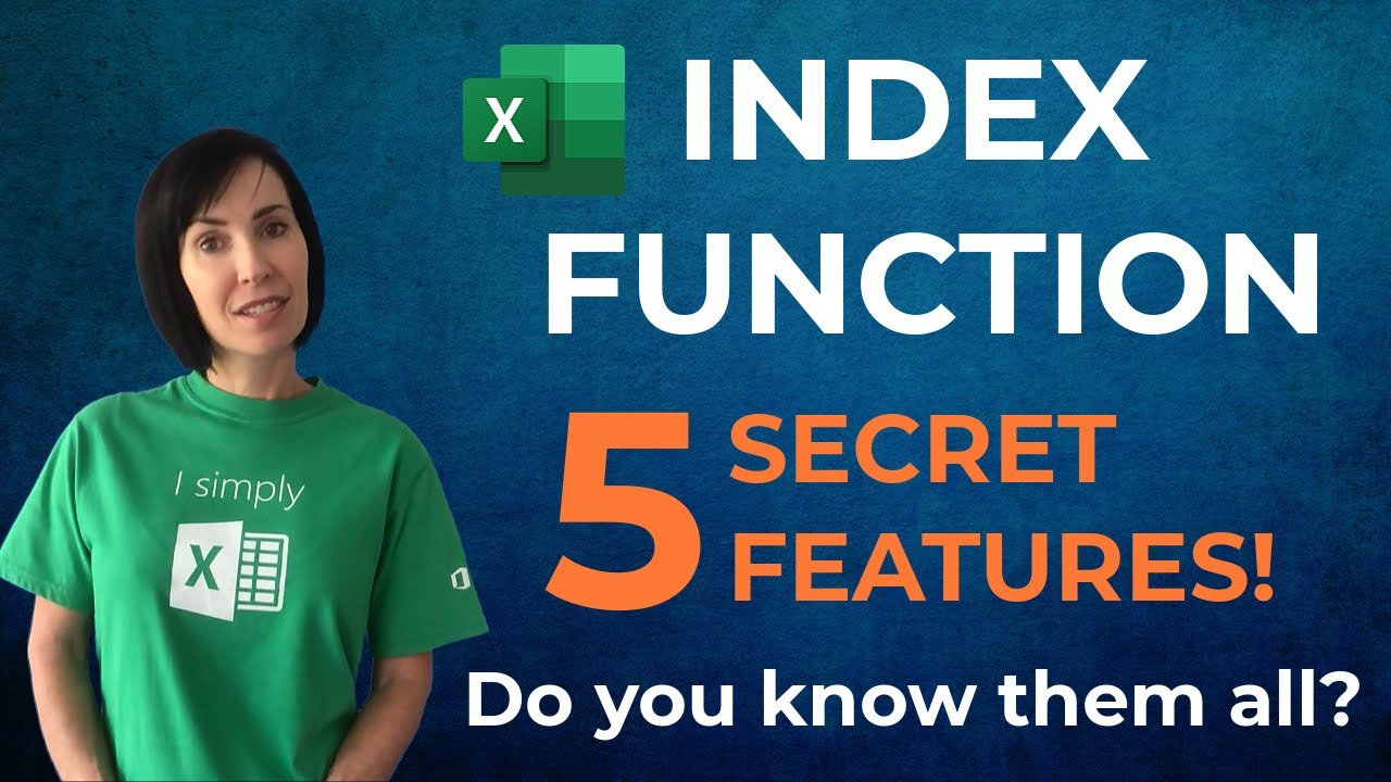 Excel INDEX Function - 5 Secret Features - Do You Know Them All?
