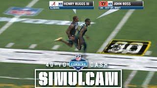 40-Yard Dash Simulcam: Ruggs vs. Ross   Herbert vs. DJ & Haskins & More!