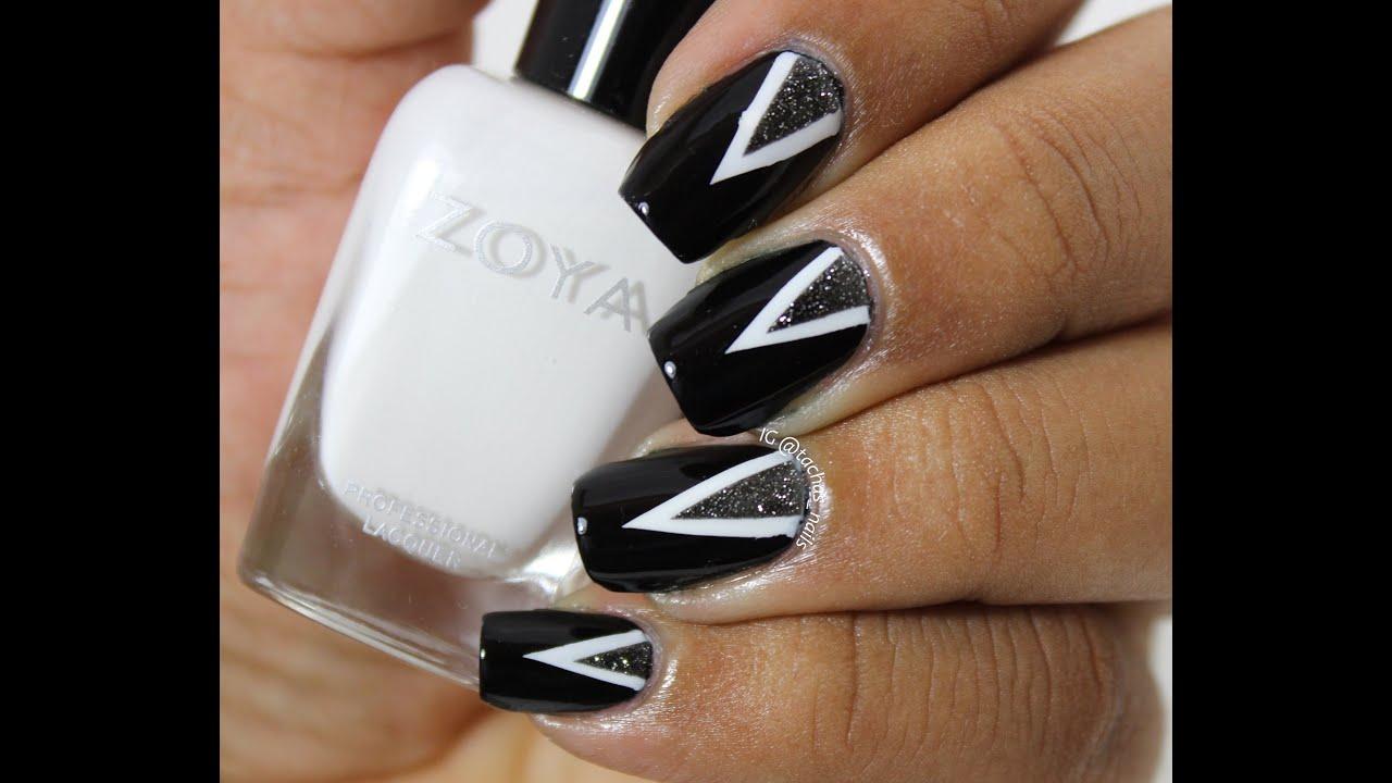 Triangle Nail Art Tachas Nails Youtube